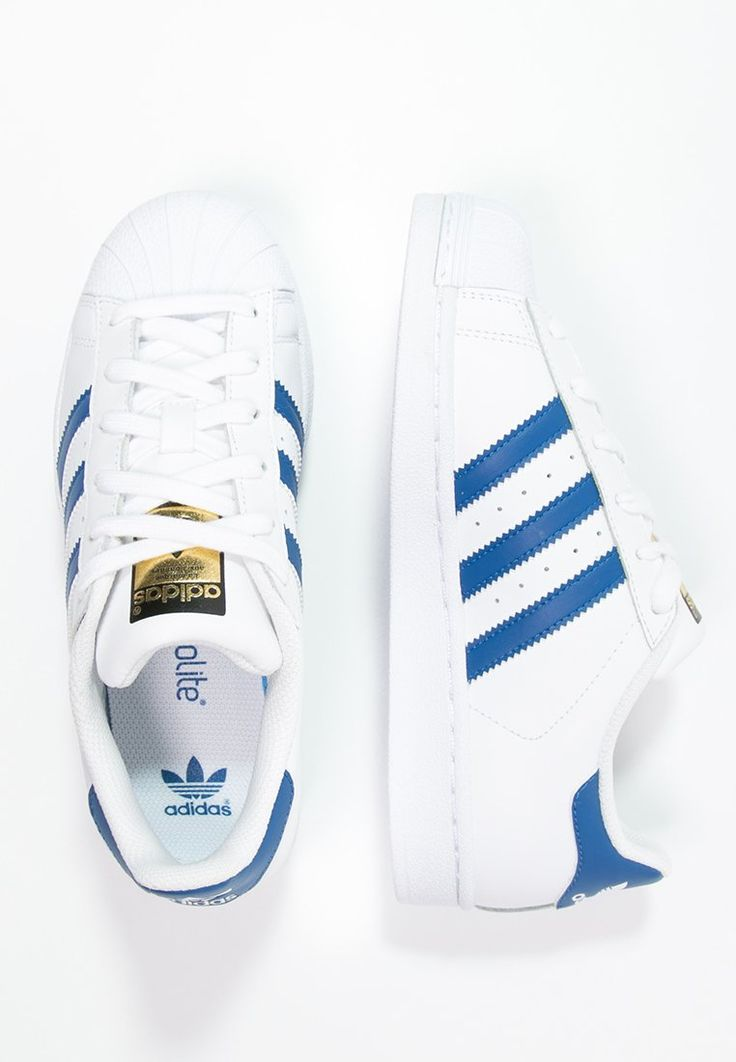 adidas Originals SUPERSTAR FOUNDATION - Sneakers laag - white/blue - Zalando.be