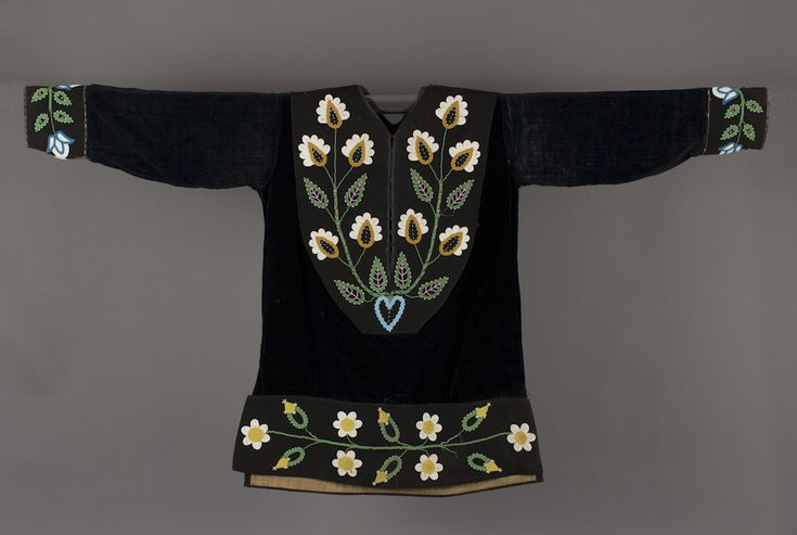 unknown Ojibwa artist (Ojibwa), Shirt, ca. 1870, glass beads on velvet, The Elizabeth Cole Butler Collection, no known copyright restrictions, 91.95.83 Front