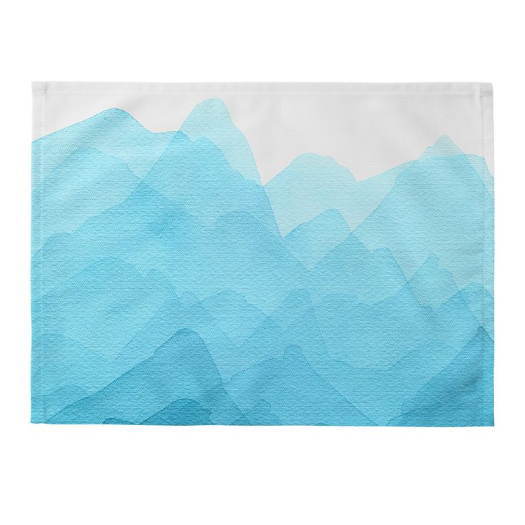 Elena Blanco Mountain blues Placemat | Deny Designs