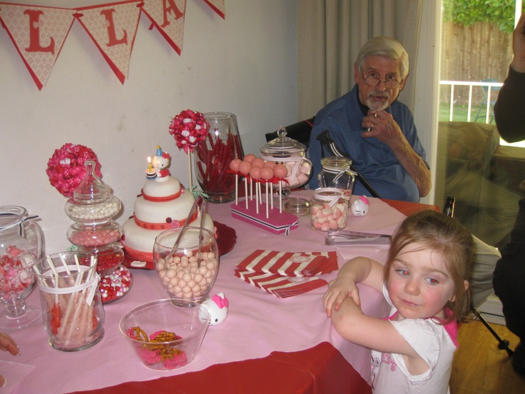 The only picture of Ella I have at her birthday...clearly, we weren't not on the ball when it came to pics!