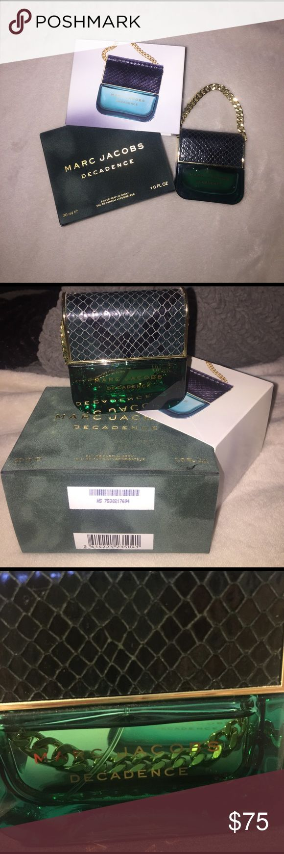 Marc Jacobs Decadence Marc Jacob Decadence Perfume, received as a gift, only used a couple times, perfect condition, i still have original packaging, offers are always welcome!:) Marc Jacobs Other