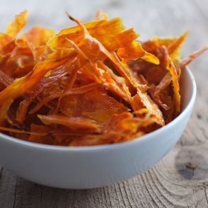 Baked Sweet Potato Chips by Jessica Seinfeld