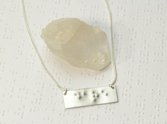 Custom Braille Necklace Personalized Braille by Beadtography