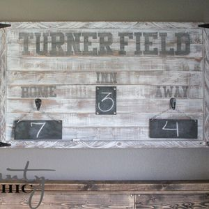 Awesome DIY rustic bedroom decor. This is such a great touch for a sports-lover's room. The Shanty2Chic sisters show you how to make your own with a free tutorial.