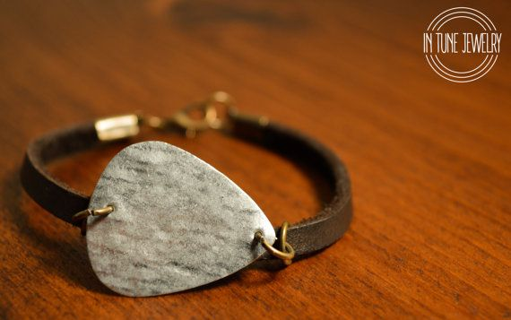 HANDMADE LEATHER GUITAR PICK BRACELETS FOR ONLY $20!