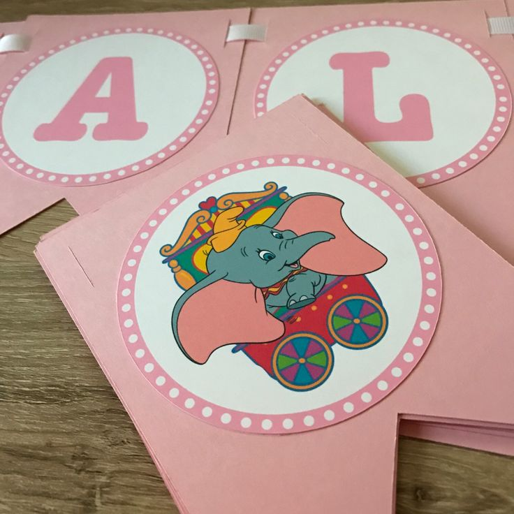 Busy Assembling Pink Dumbo Baby Shower Banner! On Its Way To London, KY ✈
