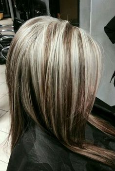 57 best blonde hair colour images on pinterest hairstyle make brown hair with chunky platinum highlights blonde highlights chunky pmusecretfo Image collections