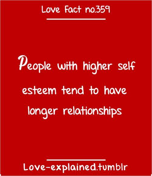 love dating relationships self esteem