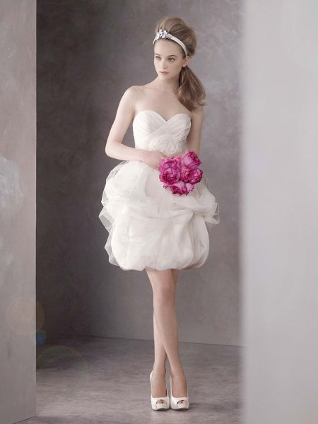 119 best images about cocktail tea length wedding for Vera wang tea length wedding dress