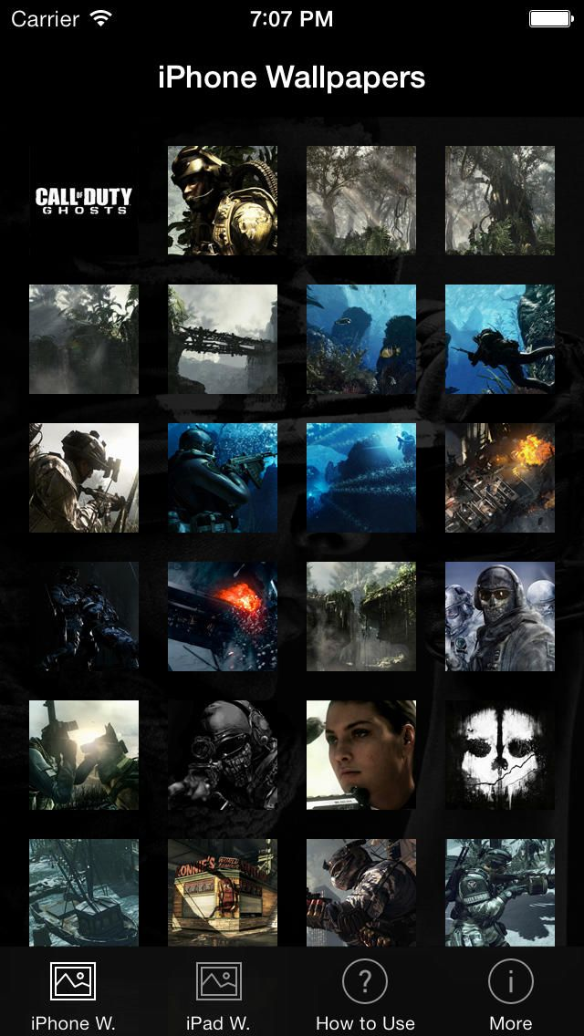 Best Wallpapers for Call of Duty: Ghosts: You can download here: https://itunes.apple.com/hu/app/id438742611?mt=8&affId=1860684 The best wallpaper app for Call of Duty: Ghosts.