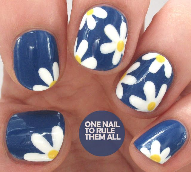 Navy Daisies for Avon