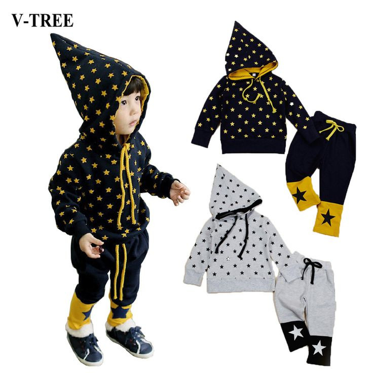 Star Witch Hat Clothing Sets New Year Costumes For Kids Track Suit For Girls Sports Suit For Boys Children's Clothing Hip Hop