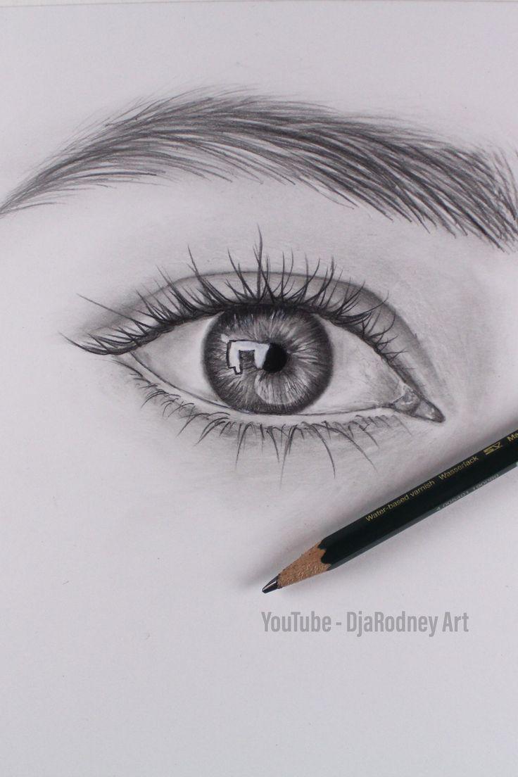 Wie das realistische Auge etappenweise zu zeichnen – YouTube
