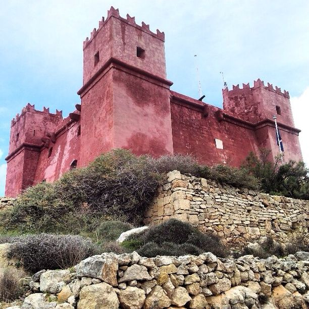 The Red Tower, Mellieha, Malta — by Fen. St Agatha's Tower or commonly known as Red Tower was built in 1649, it is now open for public.