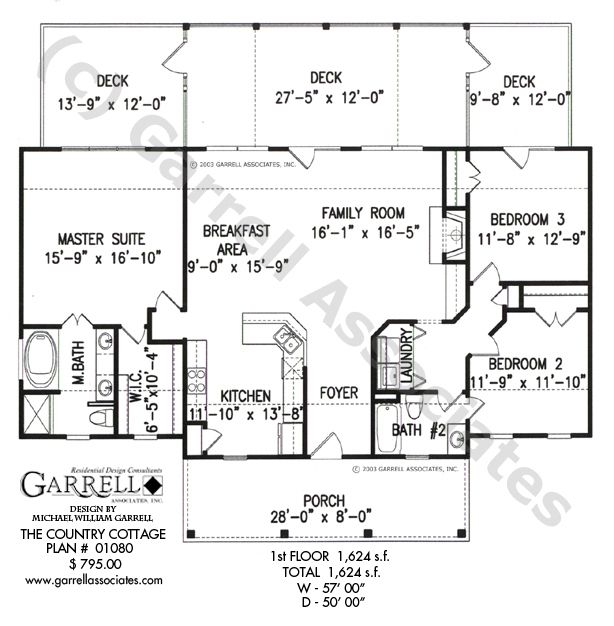 country cottage house plan floor plan ranch style house plansranch house plans one story house plans