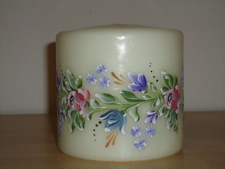 Handpainted candle