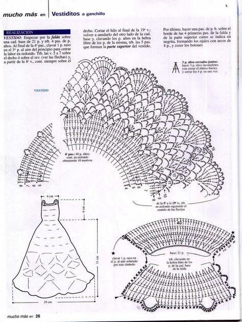 Diagrama vestido blanco