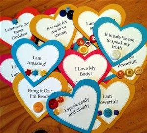 Heart-shaped Affirmation Cards