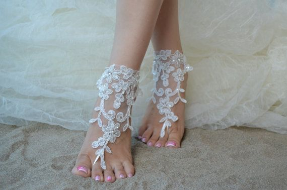 Original Design Free Ship wedding barefoot sandals by UnionTouch