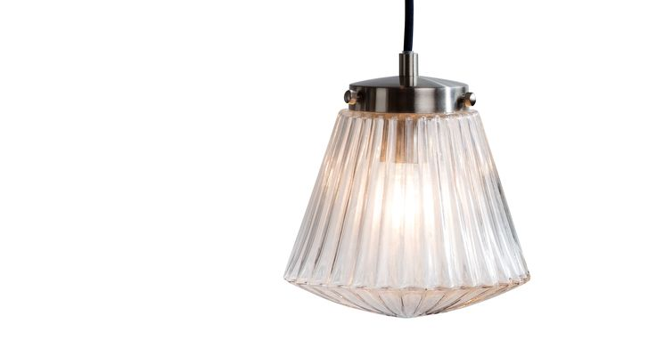 Edie Pendant Lamp, Brushed Steel