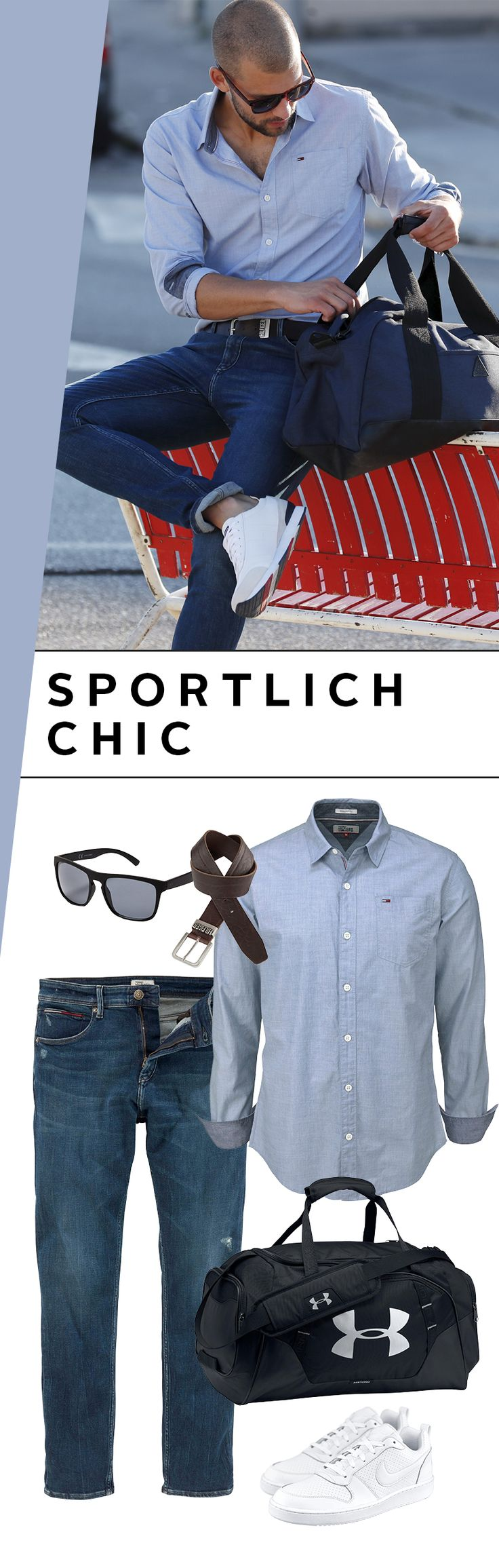 Sporty or elegant? Cool or functional? Oh, just take both! The sporty outfit with shirt and jeans from Hilfiger Denim fits in your …