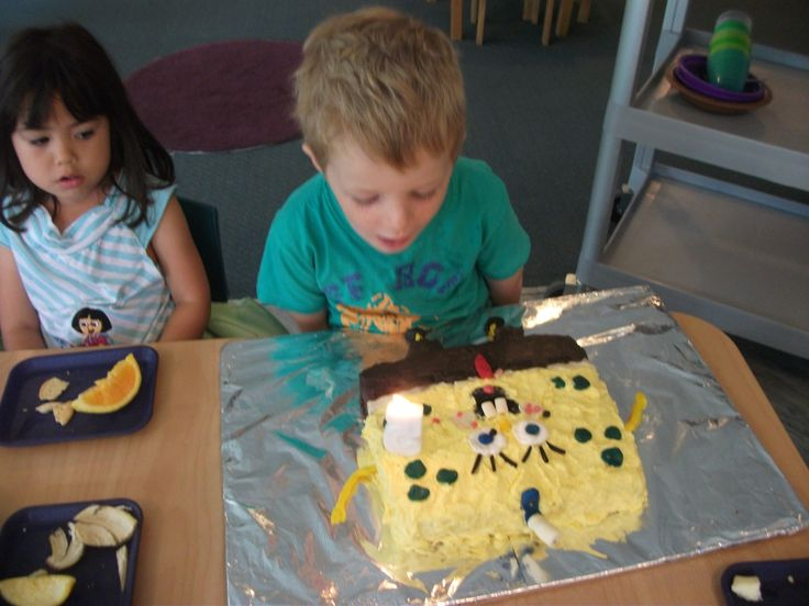 Blowing out the candle at daycare 2014