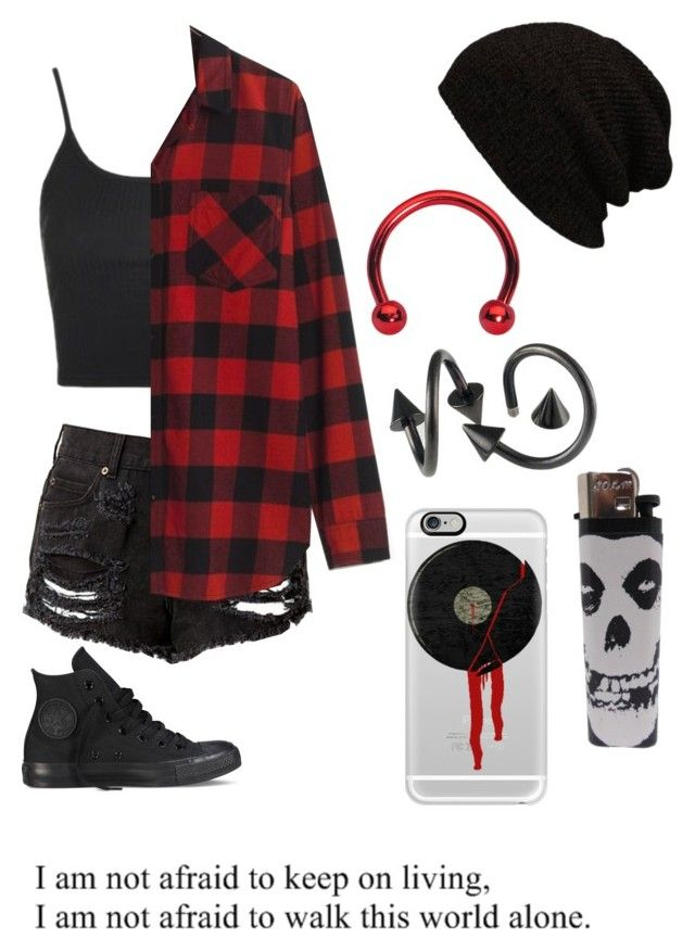 """""""Untitled #645"""" by bands-music ❤ liked on Polyvore featuring Topshop, Madewell, Converse and Casetify"""