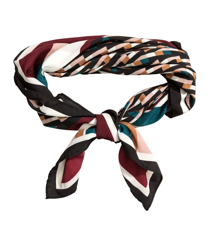 Small Scarf | Burgundy/patterned | Ladies | H&M US