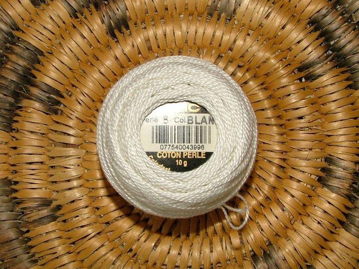 DMC Perle Cotton No 8 Color Blanc 10g White Crochet by 3CsTwistedStitchers on Etsy