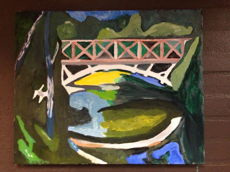 Oliemaleri malet af Jørgen min elev i Kunstskole van Godt