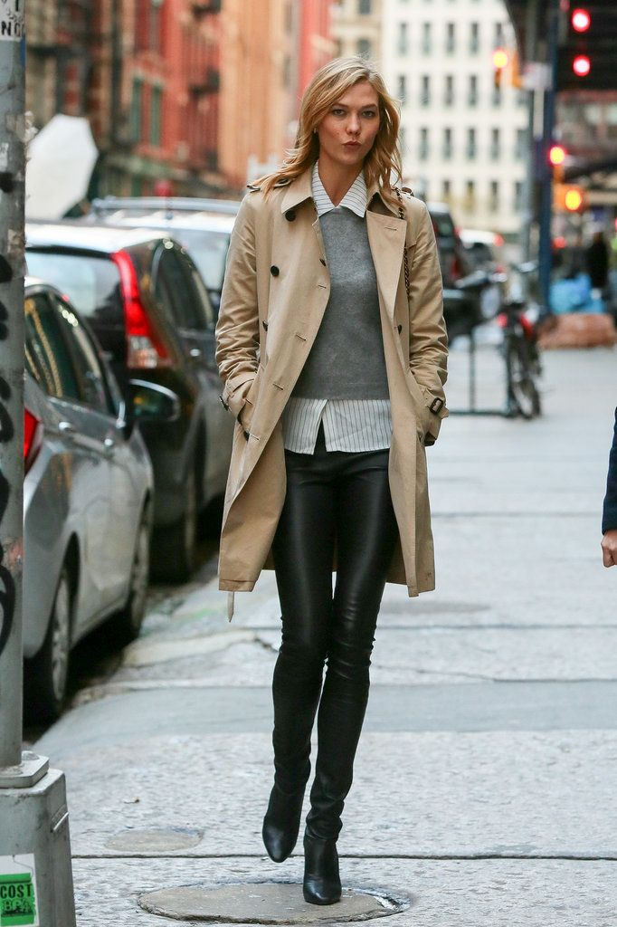 Karlie Kloss strutted her stuff in NYC on Thursday.