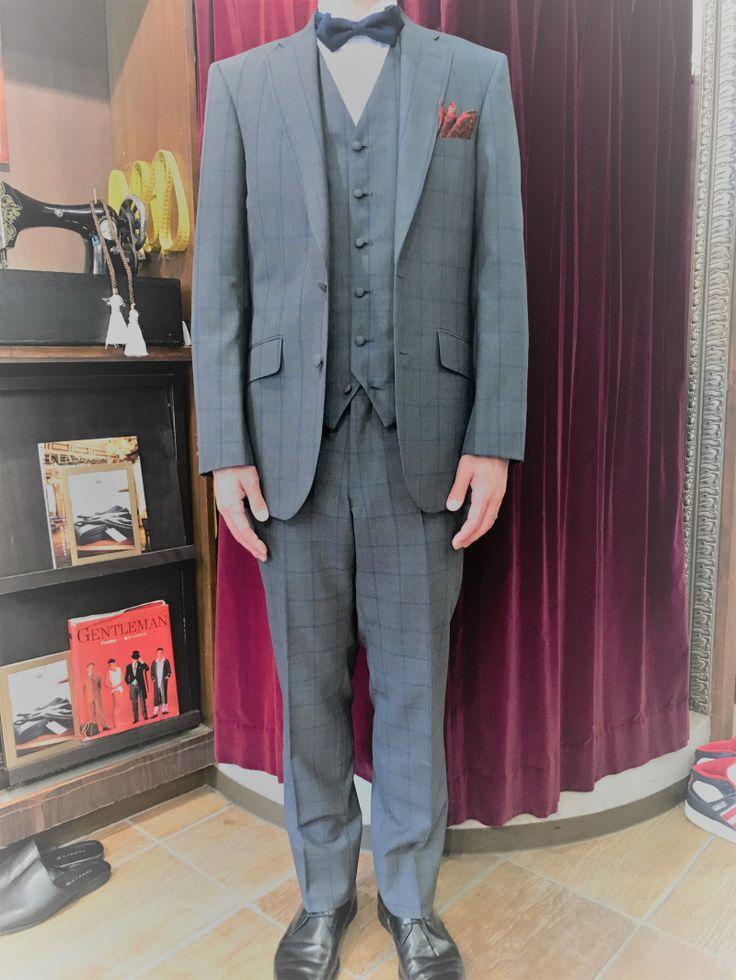 【チェック柄 新郎様衣装】|結婚式の新郎タキシード/新郎衣装はメンズブライダルへ