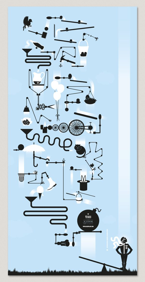 rube goldberg graphic - Google Search                                                                                                                                                      More