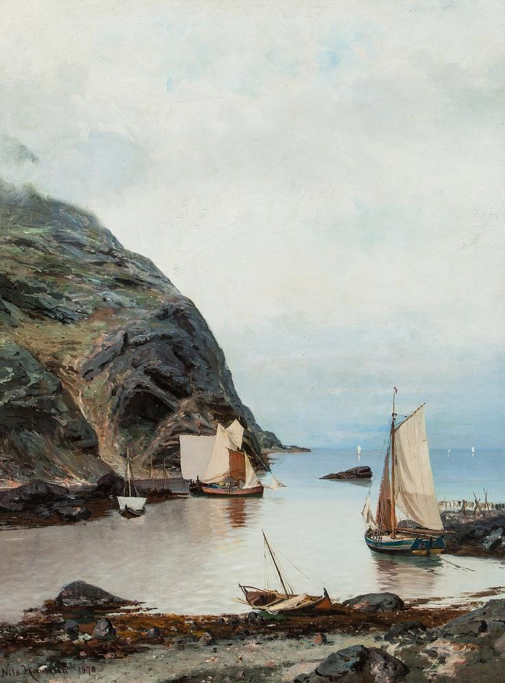Nils Hansteen (1855-1912): Fra en uthavn (1878)