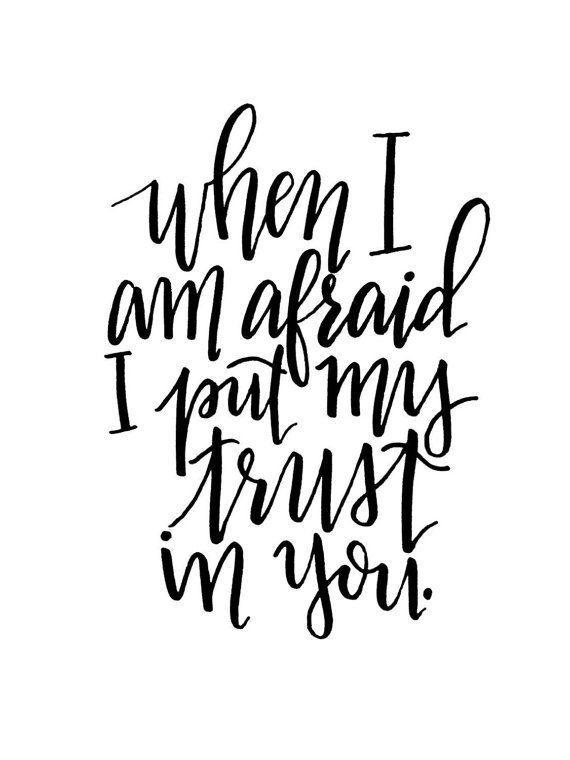 8x10 Digital Print Psalm 56:3
