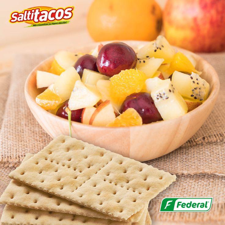 !Que buena combinación¡ Date el gusto de combinar la frescura y la crocancia. #GalletasFederal