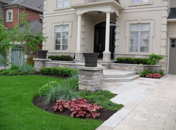 front yard landscaping colonial home landscape ideas for small house yards picture