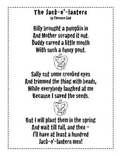 just 4 teachers sharing across borders pumpkin poem and cute pumpkin out of scrapbook paper - Cute Halloween Poem