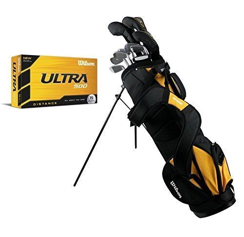 Exceptional Wilson Ultra Men's Left Hand Complete Golf Club Set w/ Stand Bag + 15 Golf Balls https://www.discount-golf-irons.com/product/wilson-ultra-mens-left-hand-complete-golf-club-set-w-stand-bag-15-golf-balls/ #GolfClubs #Wilson #GolfBallsAnyone?