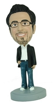 Man with hand in pocket Casual Custom Bobble Head