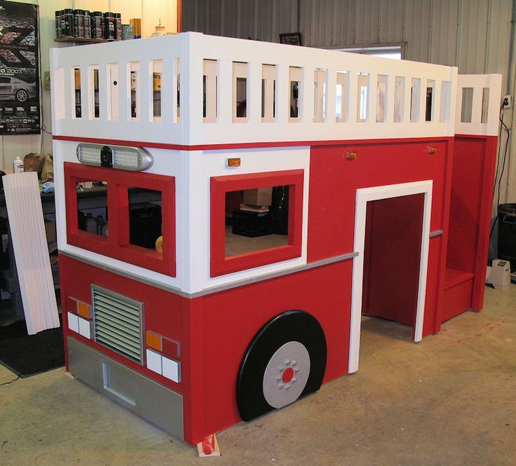 Best 25 fire truck beds ideas on pinterest truck toddler bed fire truck bedroom and used - Fireman bunk bed ...