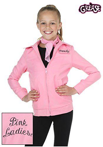 Bayi Co. girls Child Authentic Pink Ladies Jacket Medium
