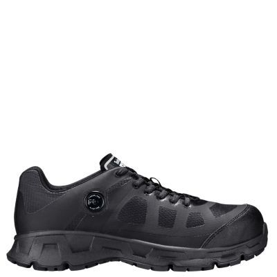 Men's Timberland PRO Velocity EH Alloy Toe Work Shoes Black Synthetic