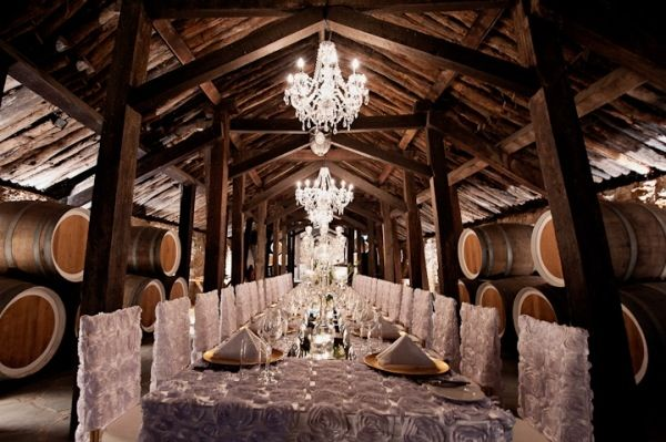 This is the Old Cave at Reynella Winery. I work here sometimes and it is a beautiful place for a wedding. Outside this rustic cellar function room is a stunning, lush garden doused in dappled sunlight from a large tree.