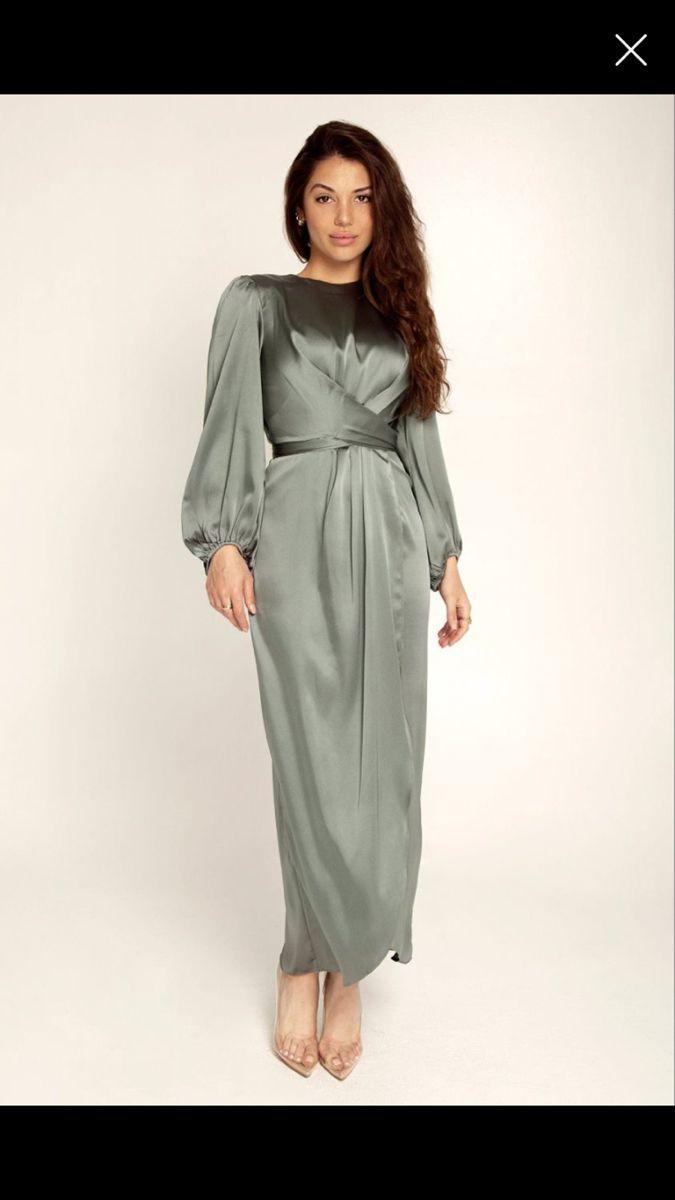 28+ Satin dresses with sleeves ideas ideas
