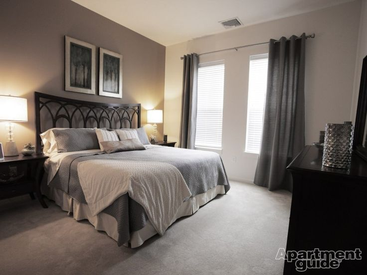 12 Apartment Bedrooms To Fall In Love With | ApartmentGuide.com. Grey  Curtains ... Part 98