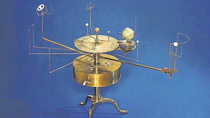 Model układu słonecznego zaprojektowany przez astronoma Williama Pearsona (1767–1847).