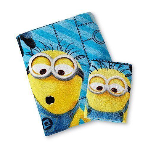Despicable Me Minions ~ Bath Towel & Washcloth  #UniversalStudios