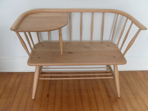 Vintage blond elm ercol hall seat telephone table. 188 best ercol images on Pinterest   Ercol furniture  Ercol chair