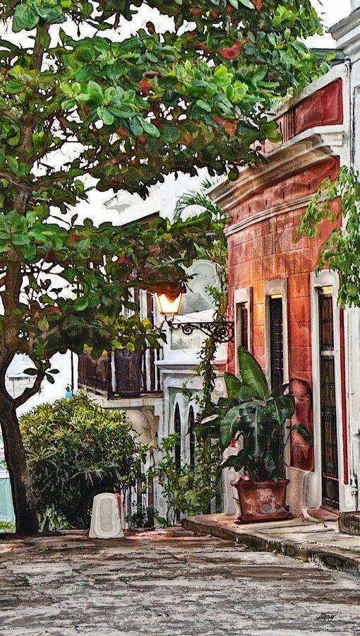 Old San Juan street,Puerto Rico